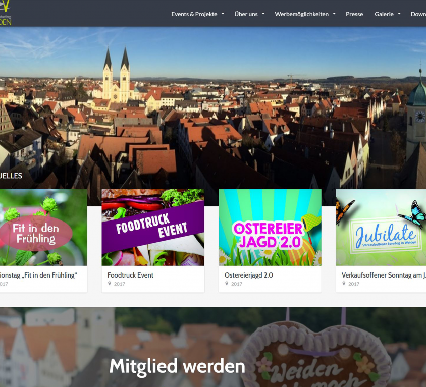 Website Stadtmarketing-Weiden