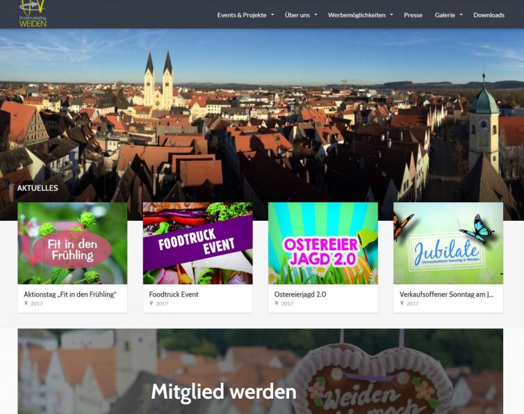 Website Stadtmarketing-Weiden